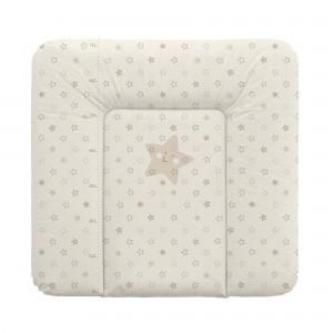 Pelenkázó lap 72x75 cm - Bézs Csillagok
