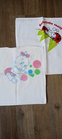Textil Pelenka 70 x 70 cm - 2 db-os - Katica-Baba