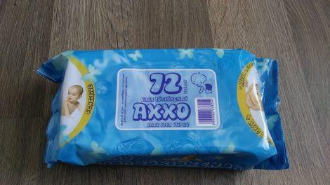 Axxo Sensitive baba törlőkendő - 72 db-os