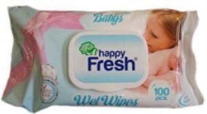 Happy Fresh Baba Sensitive törlőkendő kupakos -100 db-os