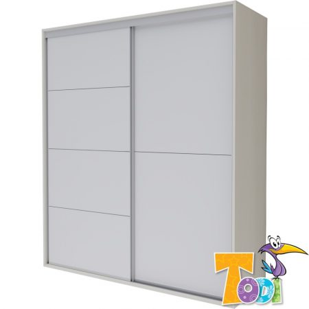 Todi Bianco Gardróbszekrény - 140-es