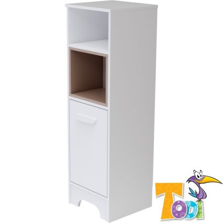 Todi Bianco keskeny nyitott +1 ajtós szekrény