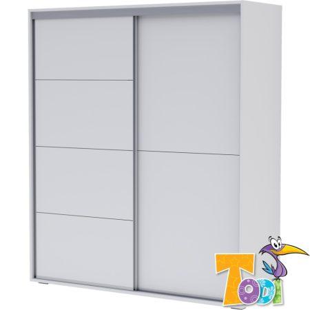 Todi White Bunny – gardróbszekrény - 200 cm