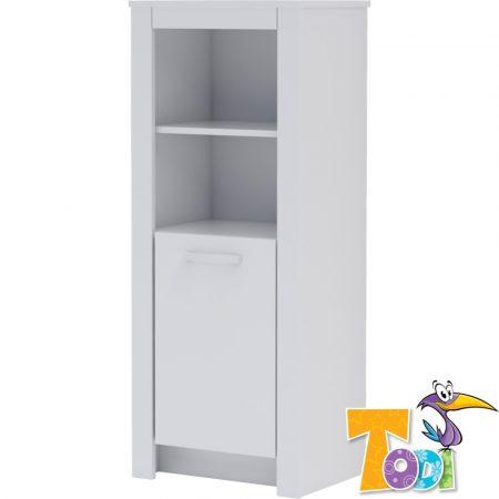 Todi White Bunny – keskeny nyitott +1 ajtós szekrény (140 cm magas)