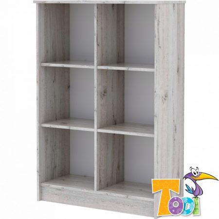 Todi Bee – nyitott polcos szekrény (140 cm magas)