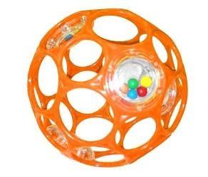 BS OBALL RATTLE játék 10 cm, Narancs-új