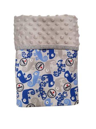 Kétoldalú takaró 70×90 – Szürke/Kék Kaméleon