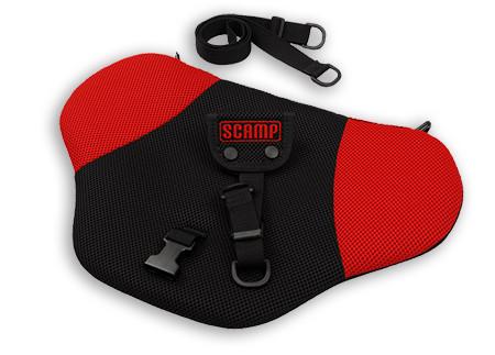 Scamp Párnás biztonsági övt erelő - Red