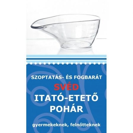 Szoptatás - és fogbarát svéd itató-etető pohár